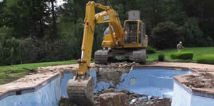 example of pool removal in Jacksonville, FL